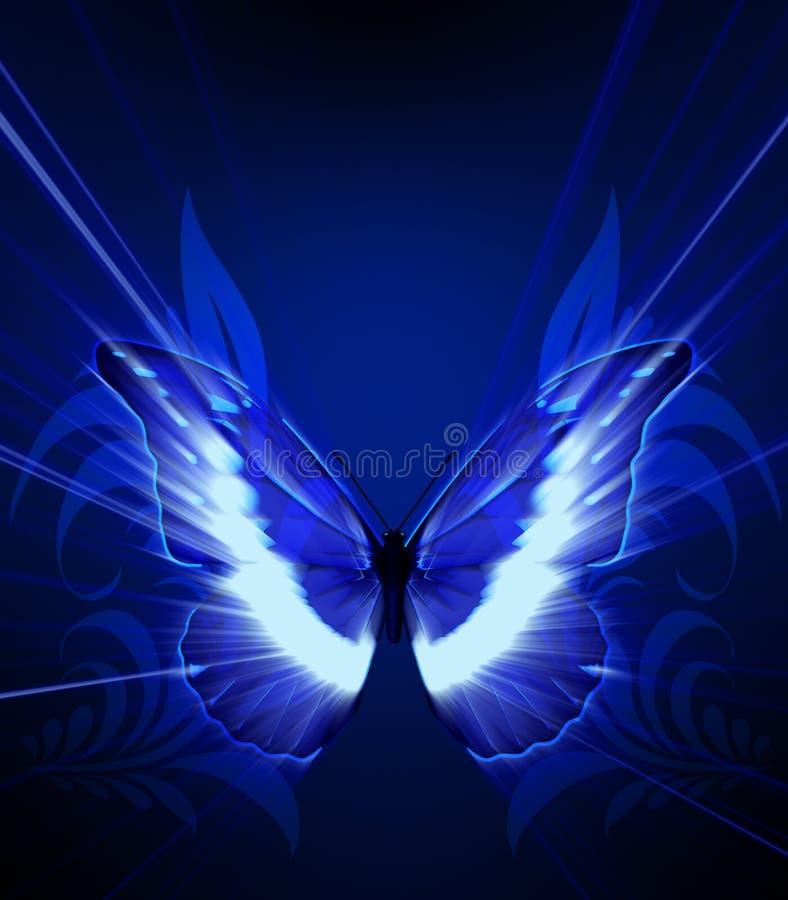Farfalla con lustro illustrazione di stock