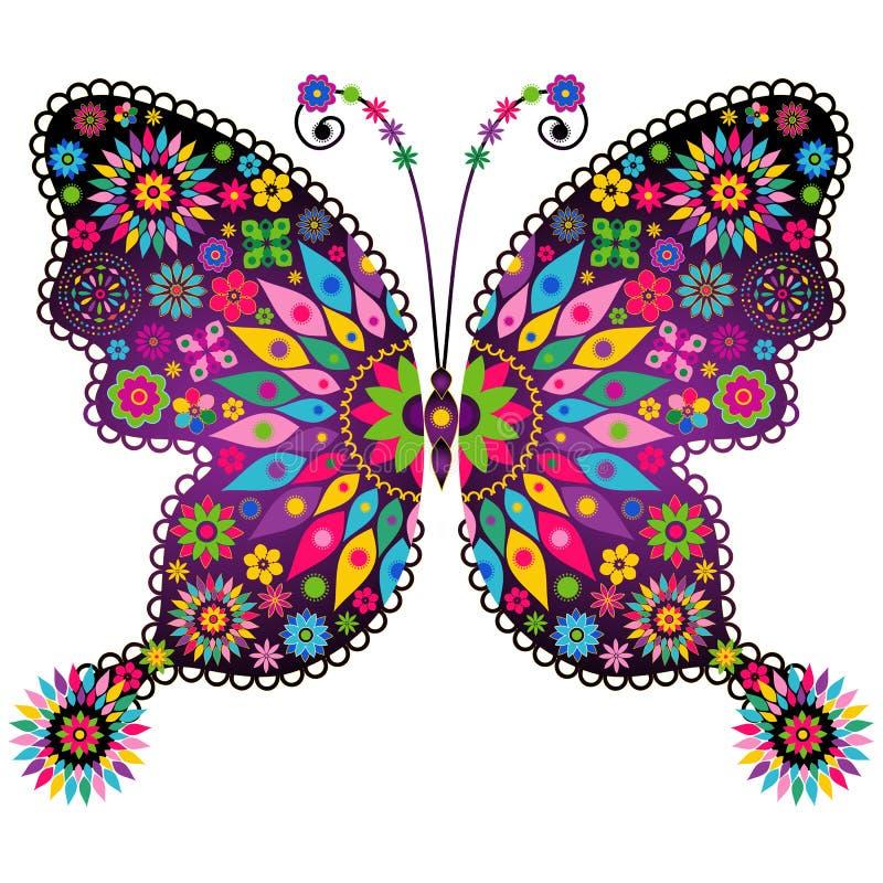 Farfalla d'annata viva di fantasia royalty illustrazione gratis