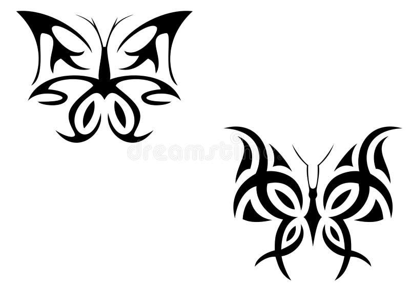 Farfalla del tatuaggio illustrazione di stock