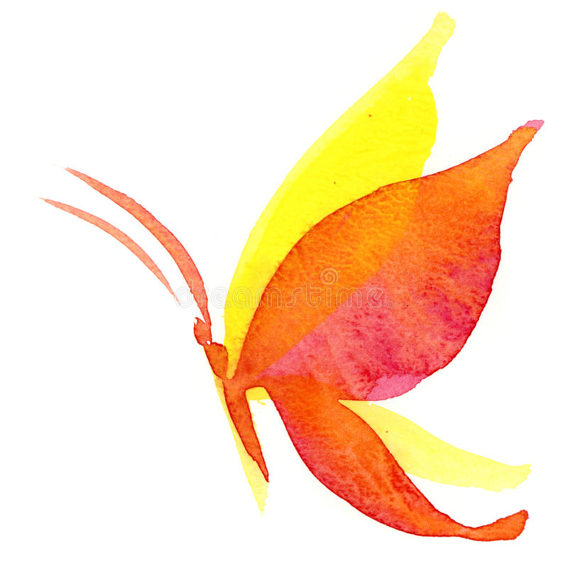 Farfalla Del Watercolour Fotografia Stock Libera da Diritti