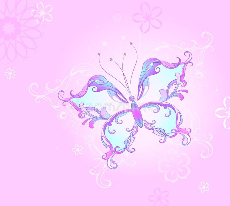 Farfalla dentellare illustrazione di stock