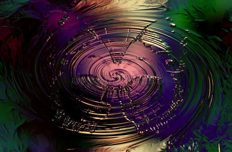 Farfalla di colore su fondo nero a colori il turbinio Effetto di vetro royalty illustrazione gratis