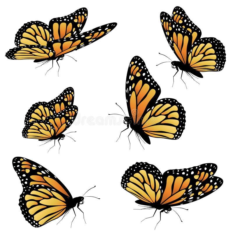 Farfalla di monarca arancio royalty illustrazione gratis