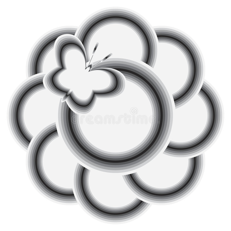 Farfalla e fiore royalty illustrazione gratis