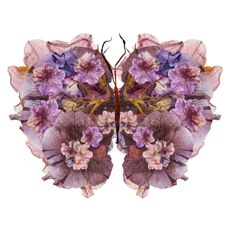 Farfalla floreale fatta dei fiori fotografie stock
