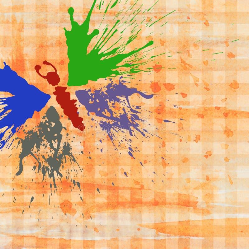 Farfalla Grunge fotografia stock
