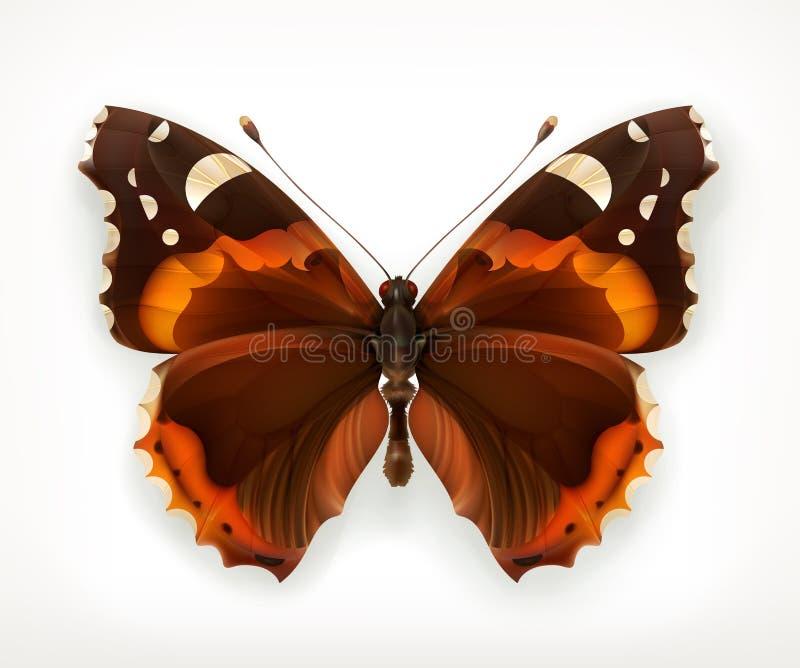 Farfalla, icona di vettore illustrazione di stock