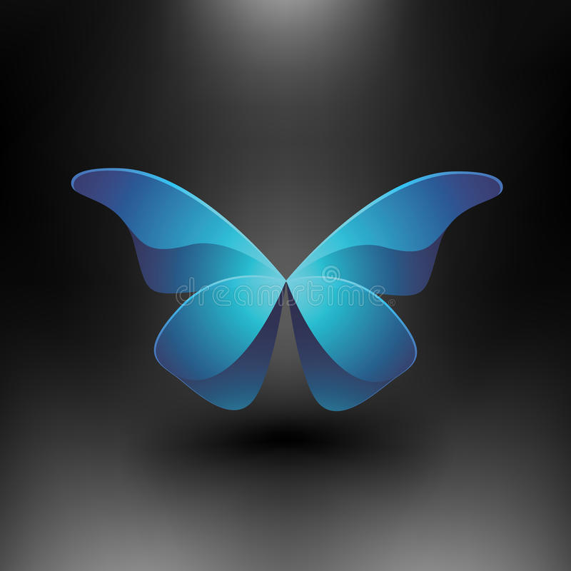 Farfalla lucida di vettore illustrazione di stock