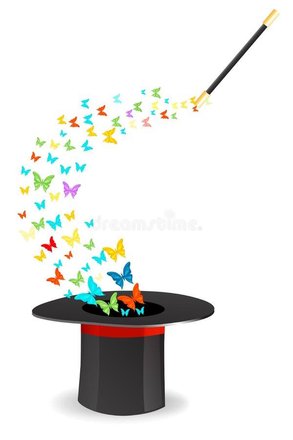 Farfalla magica illustrazione vettoriale