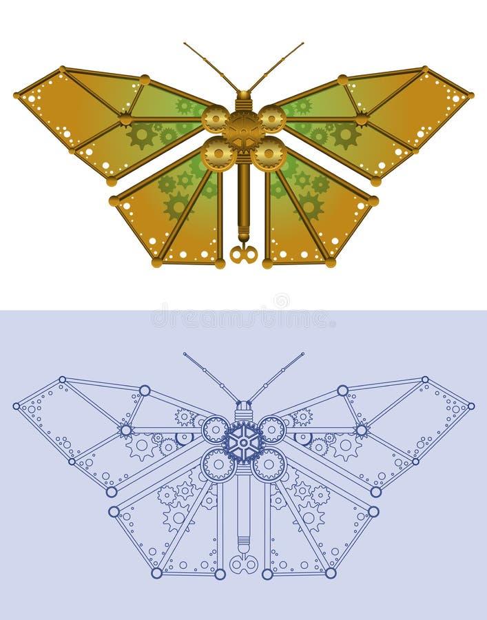 Farfalla meccanica illustrazione di stock