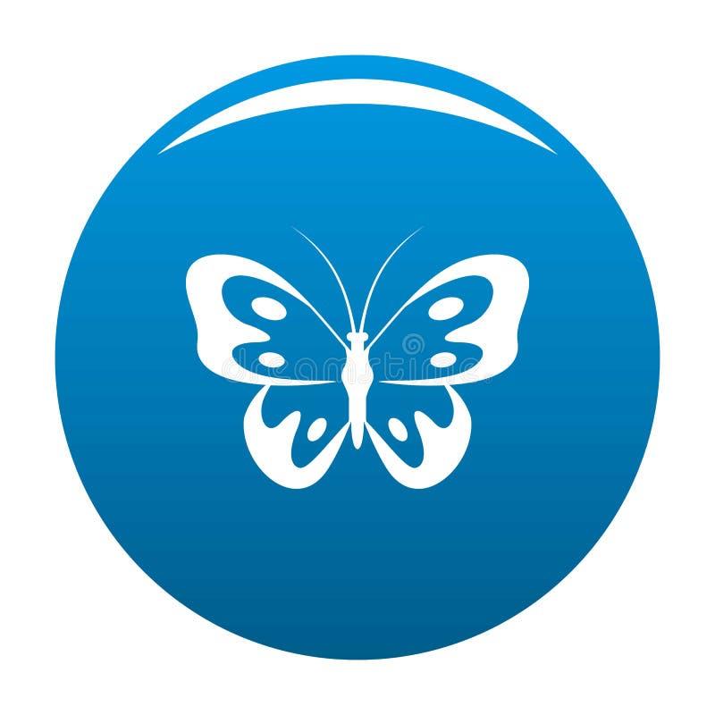 Farfalla nel blu dell'icona della fauna selvatica illustrazione di stock