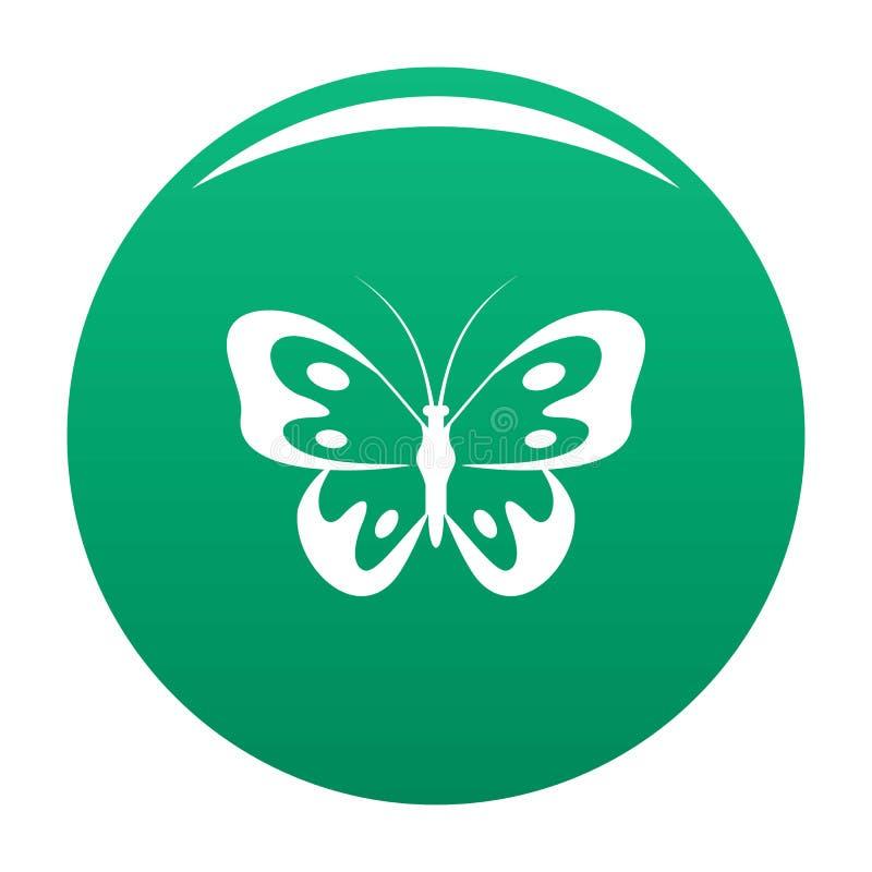 Farfalla nel verde dell'icona della fauna selvatica illustrazione di stock