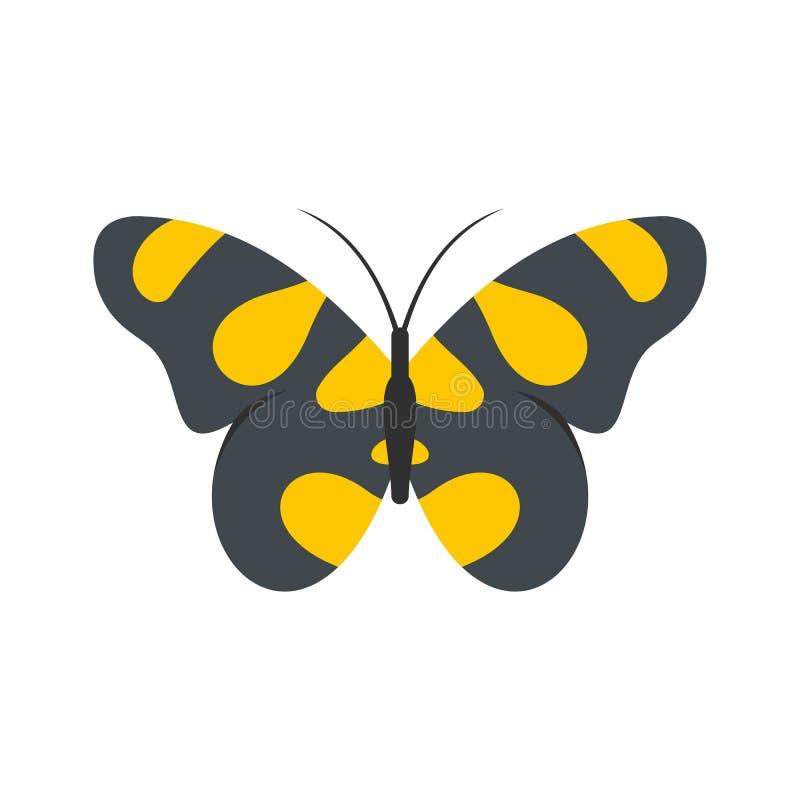 Farfalla nell'icona della fauna selvatica, stile piano illustrazione di stock