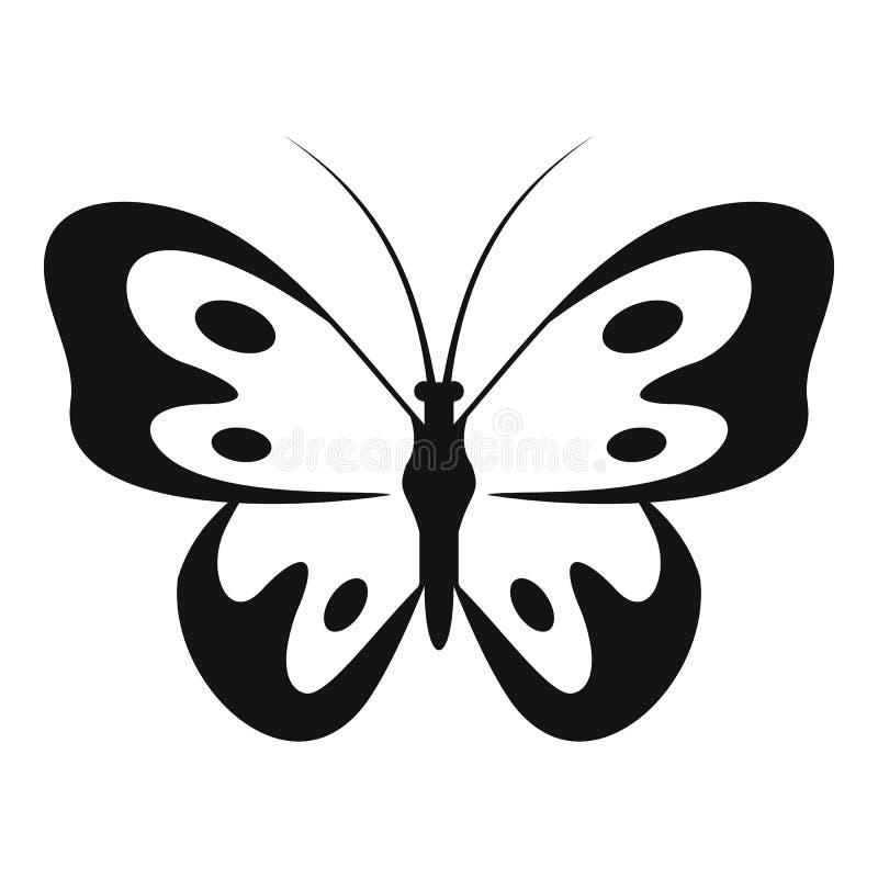 Farfalla nell'icona della fauna selvatica, stile semplice royalty illustrazione gratis