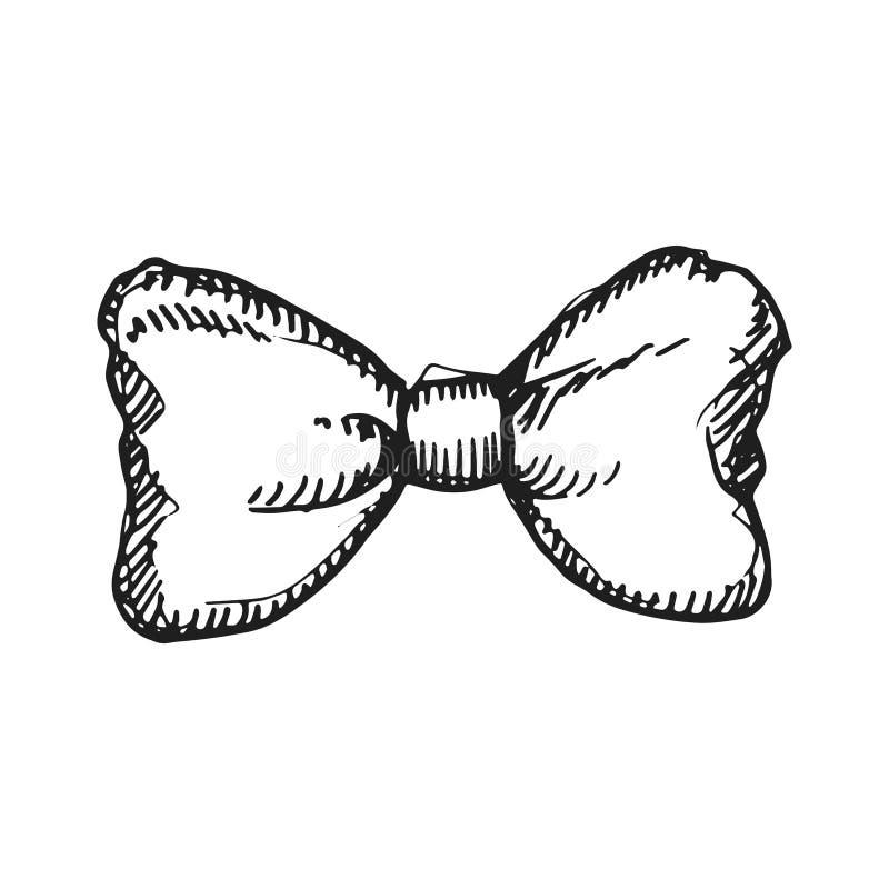 Farfalla per lo schizzo di vettore dell'icona del rivestimento tiraggio isolato mano illustrazione vettoriale