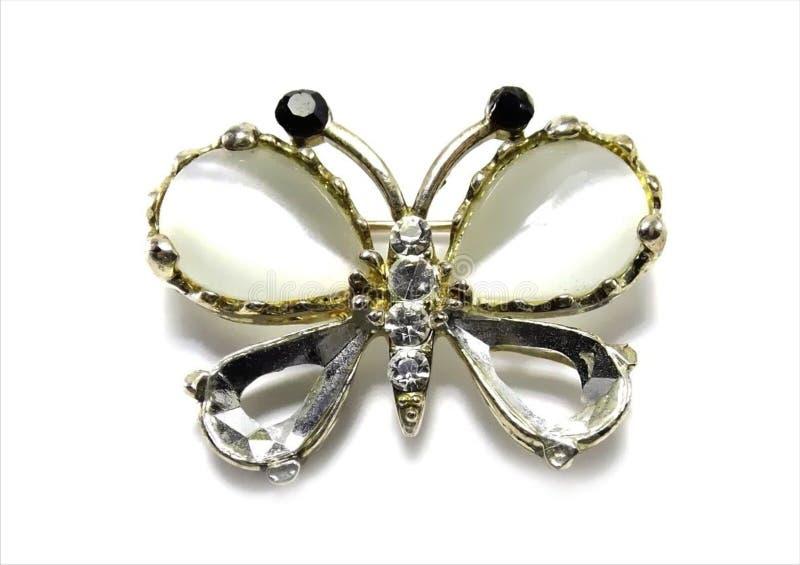 Farfalla preziosa della fibula fotografia stock libera da diritti
