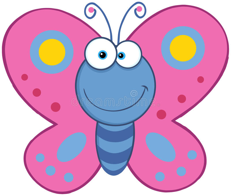 Farfalla sorridente illustrazione vettoriale