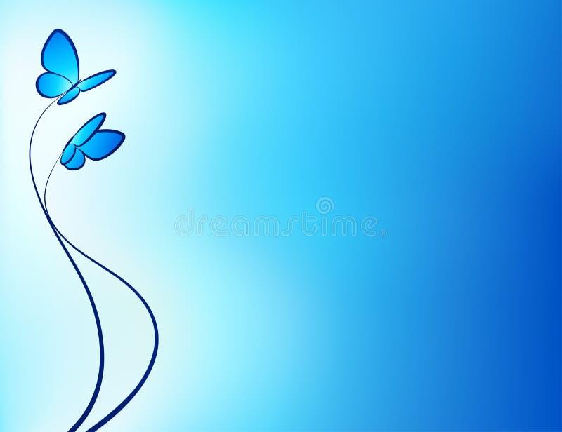 Farfalla su una priorità bassa astratta. illustrazione vettoriale