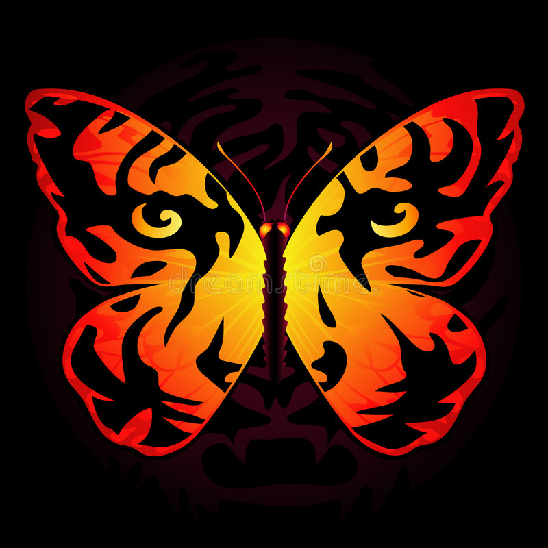 farfalla Tigre-colorata illustrazione di stock