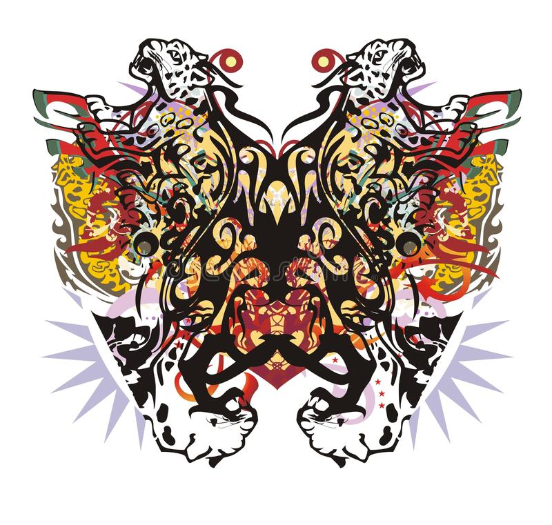 Farfalla variopinta insolita del giaguaro di lerciume illustrazione vettoriale
