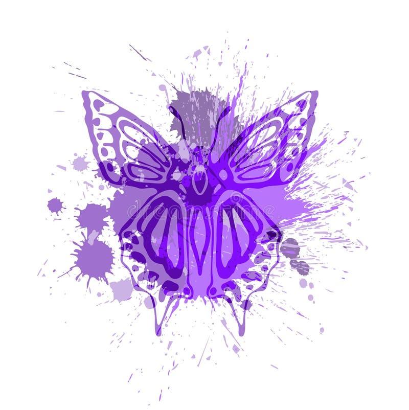 Farfalla viola royalty illustrazione gratis