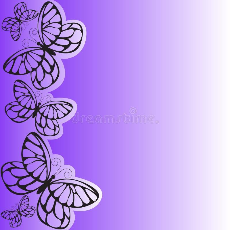 Farfalla viola illustrazione di stock