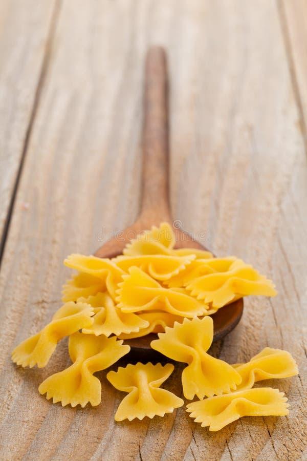 Farfalle意大利面食 库存图片