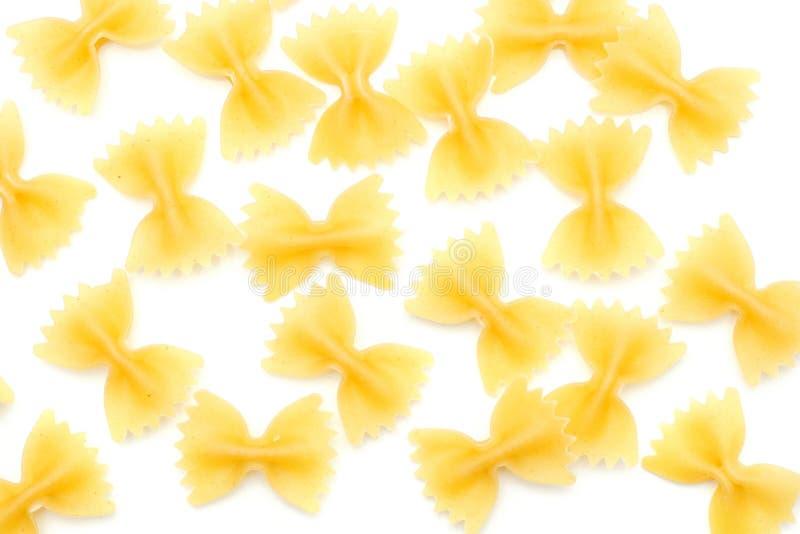 Farfalle που απομονώνεται ακατέργαστο στοκ φωτογραφίες με δικαίωμα ελεύθερης χρήσης