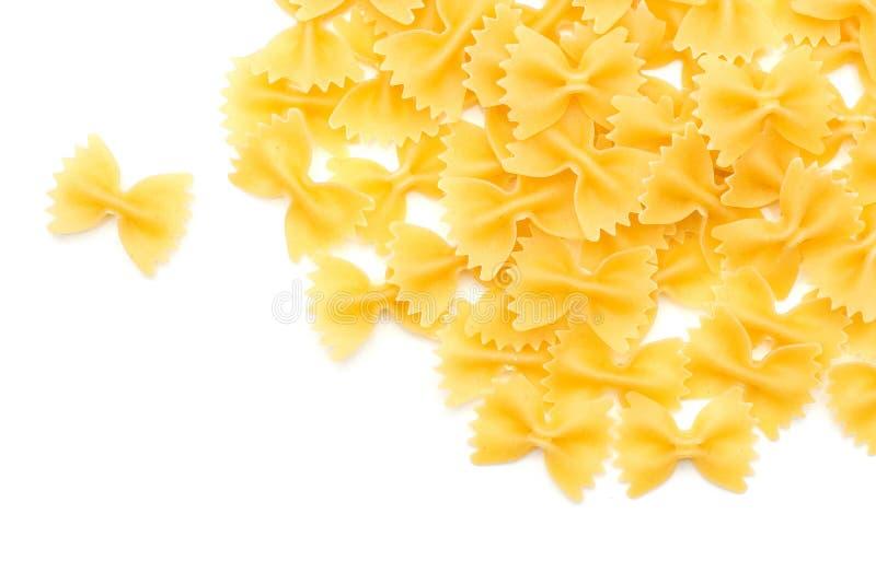 Farfalle που απομονώνεται ακατέργαστο στοκ εικόνα με δικαίωμα ελεύθερης χρήσης