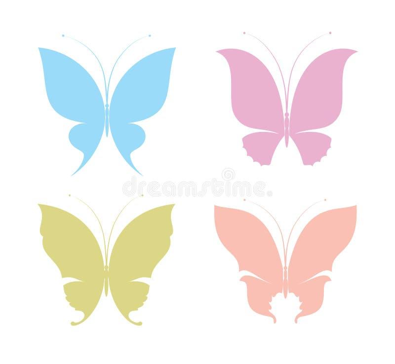 Farfalle illustrazione di stock