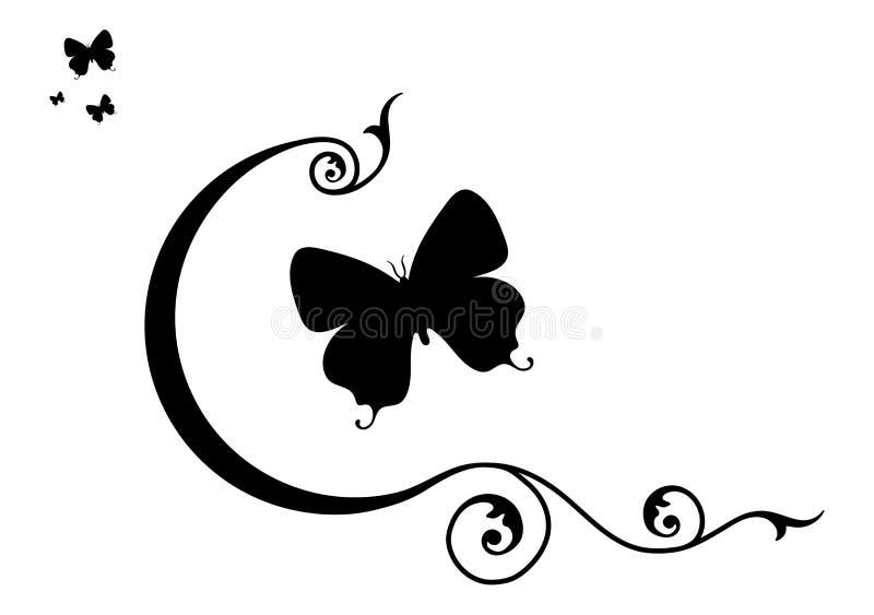 Farfalle & elementi decorativi illustrazione vettoriale