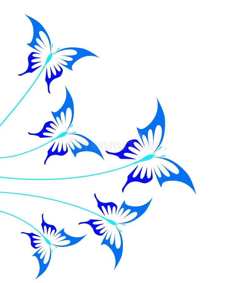 Farfalle blu illustrazione di stock
