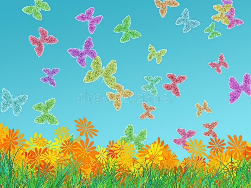Farfalle d'ardore illustrazione vettoriale