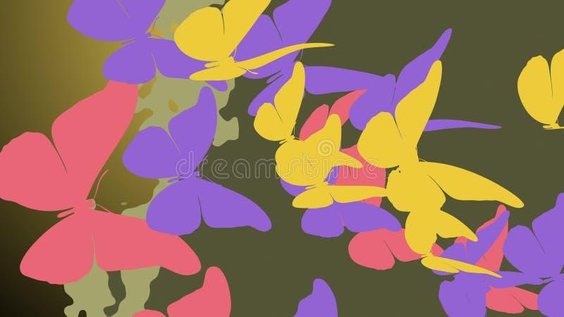 Farfalle esotiche con la volata fragile delle ali illustrazione di stock