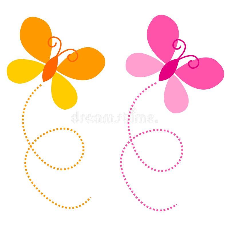 Farfalle/farfalla illustrazione vettoriale