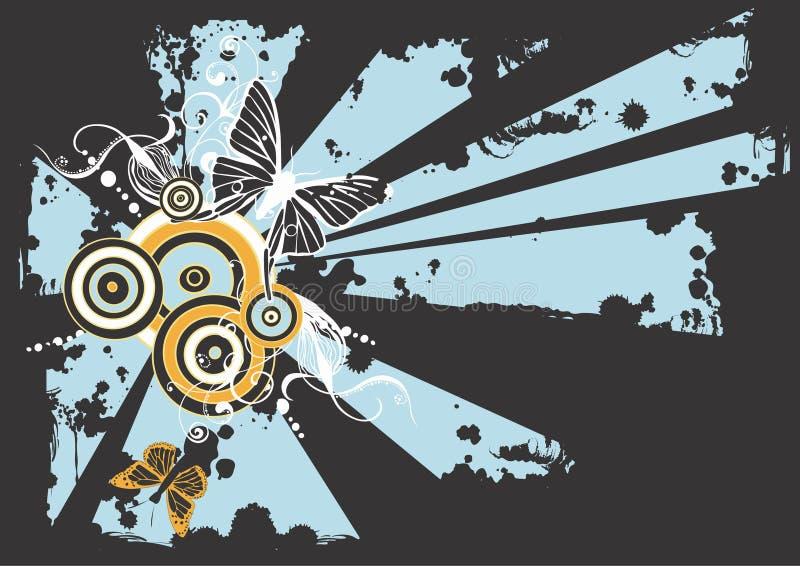 Farfalle Grungy illustrazione vettoriale