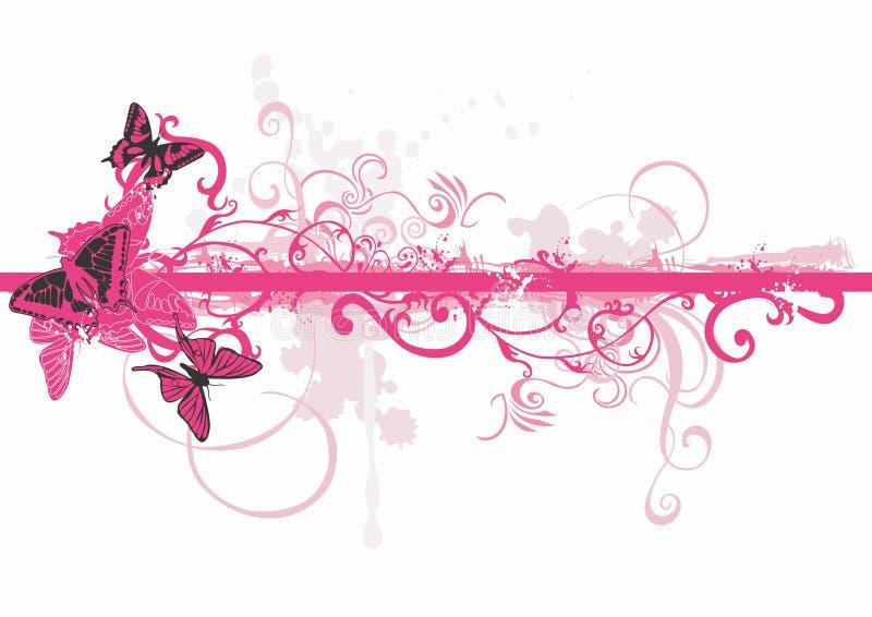 Farfalle Grungy illustrazione di stock