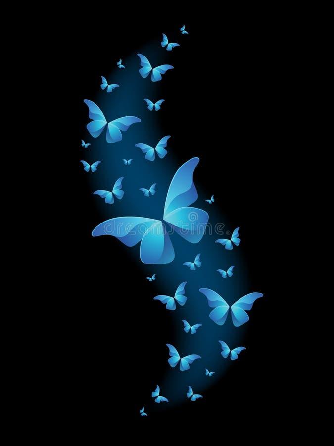 Farfalle lucide di vettore illustrazione di stock