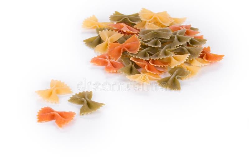 Farfalle makaronu trzy kolory fotografia royalty free