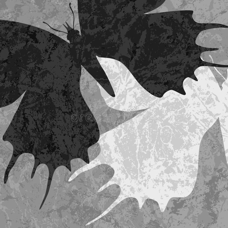 Farfalle marmorizzate royalty illustrazione gratis