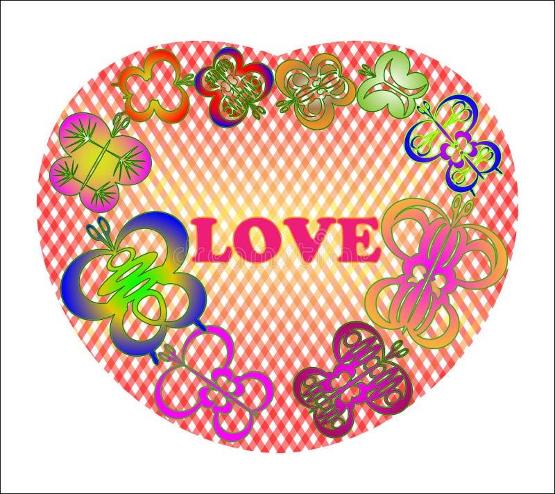Farfalle nel cuore royalty illustrazione gratis