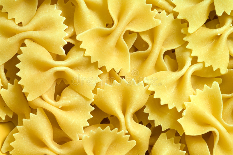 Farfalle Pasta. Close up of the Farfalle Pasta Uncooked royalty free stock photo