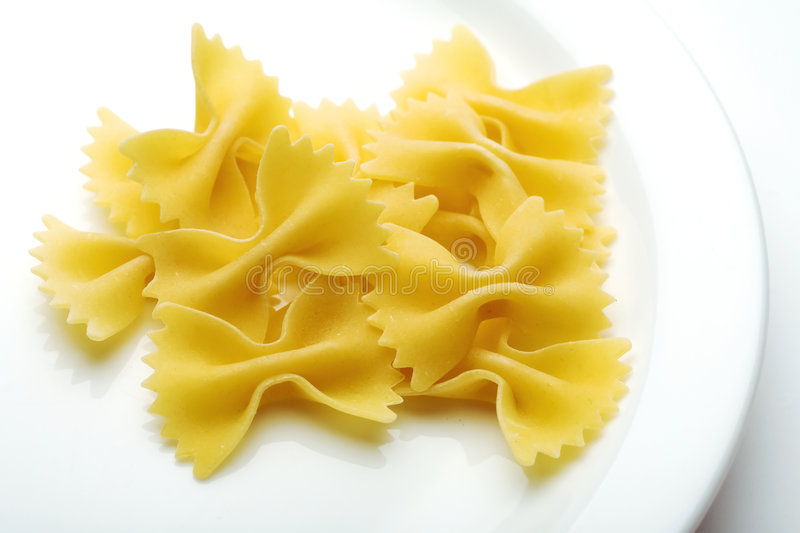Farfalle Pasta. Close up of the Farfalle Pasta Uncooked royalty free stock photos