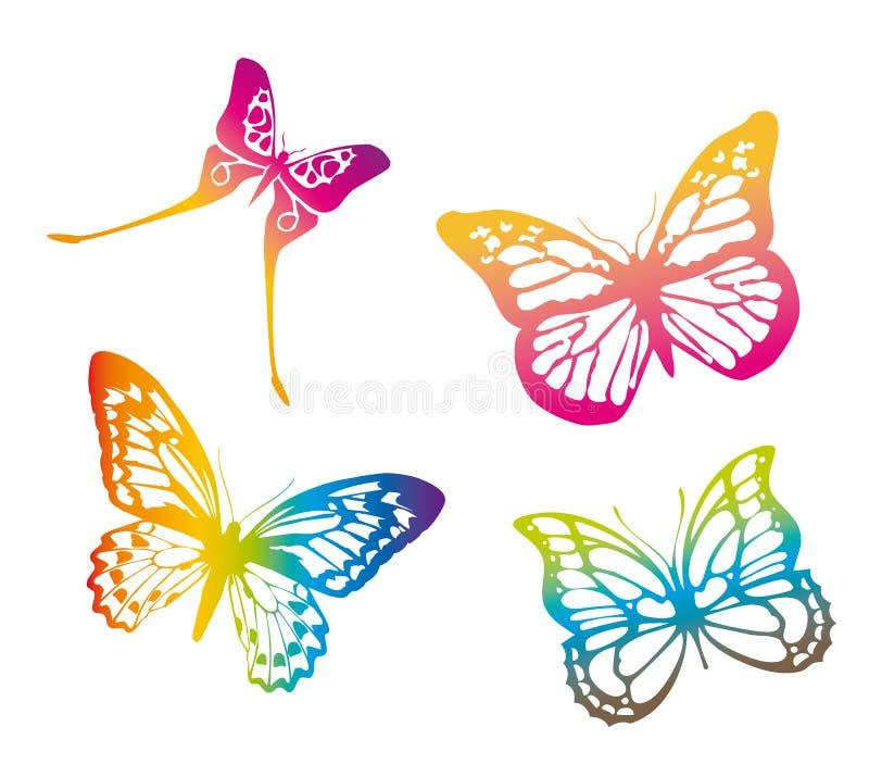 Farfalle variopinte royalty illustrazione gratis