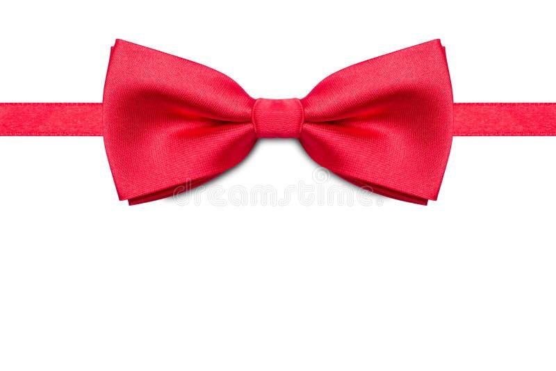 Farfallino rosso isolato su fondo bianco fotografie stock libere da diritti