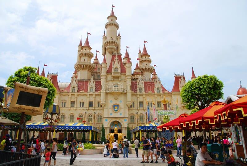 FarFar bort slott royaltyfria foton
