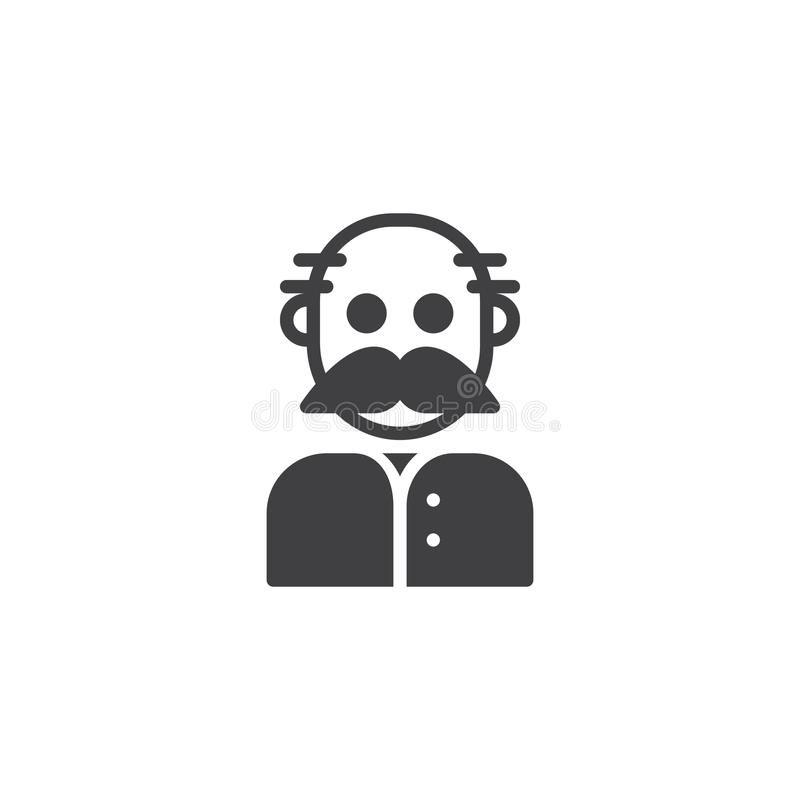 Download Farfarsymbolsvektor vektor illustrationer. Illustration av moustache - 106836455