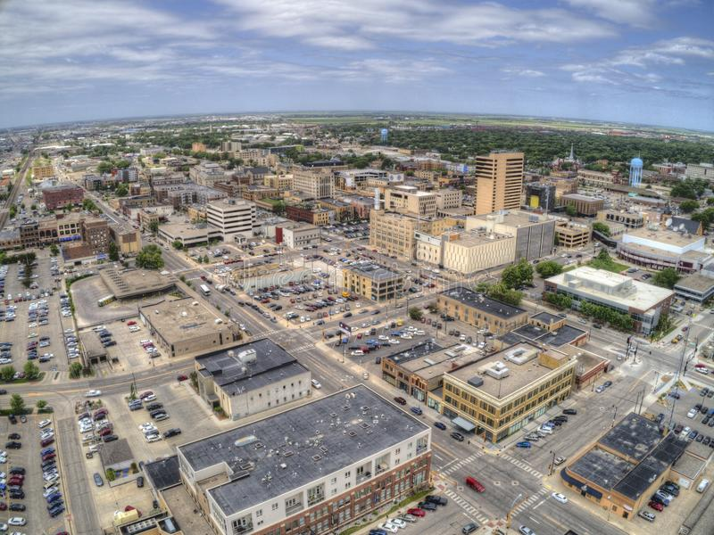 Fargo is a the largest City in North Dakota on the Red River royalty free stock photo