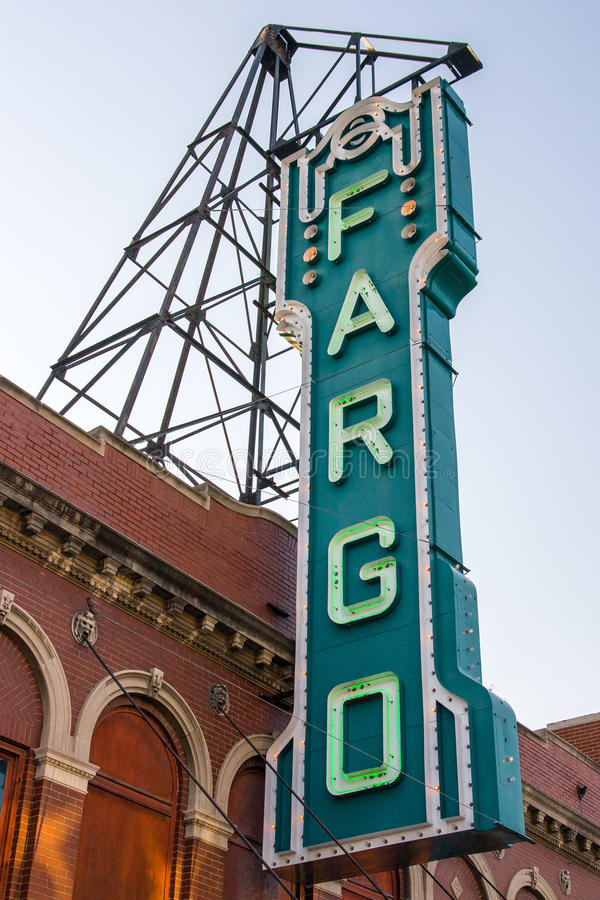 Fargo Theater Sign image stock