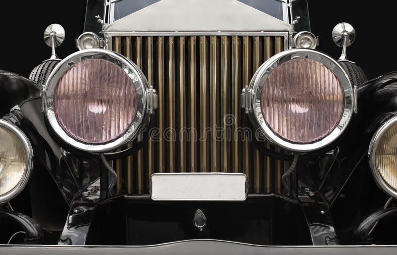Fari dell'automobile antica immagine stock